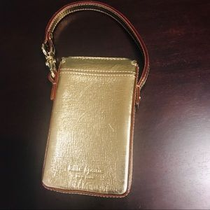 Kate Spade i Phone 4 Gold case Snap closure Handle